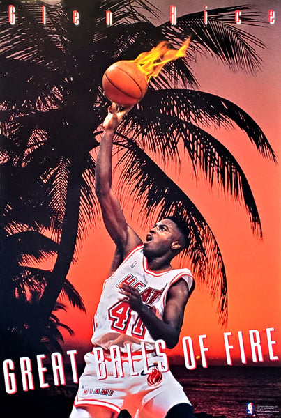 "Glen Rice ""Great Balls of Fire"" Miami Heat NBA Action Poster - Costacos Brothers 1993"
