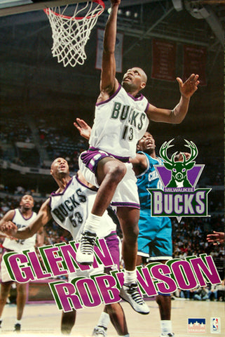 "Glenn Robinson ""Big Dog"" Milwaukee Bucks NBA Action Poster - Starline 1995"