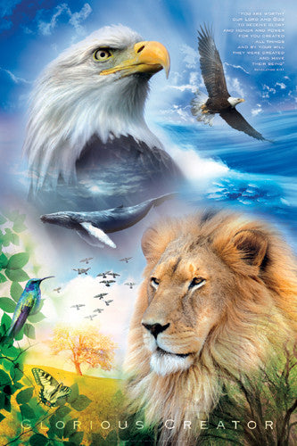 Glorious Creator (Revelation 4:11) Animal Kingdom Inspirational Poster - Slingshot