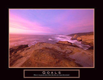 "Ocean Shoreline ""Goals"" Motivational Poster - Front Line"