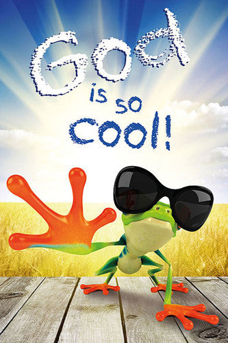 God is So Cool (Christian Gekko) Inspirational Poster - Slingshot Publishing