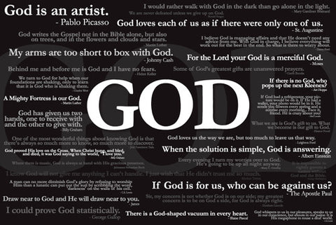 31 Quotes About God Poster - Slingshot Publishing