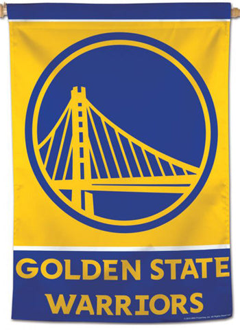 Golden State Warriors Official NBA Basketball Premium 28x40 Team Logo Wall Banner - Wincraft Inc.