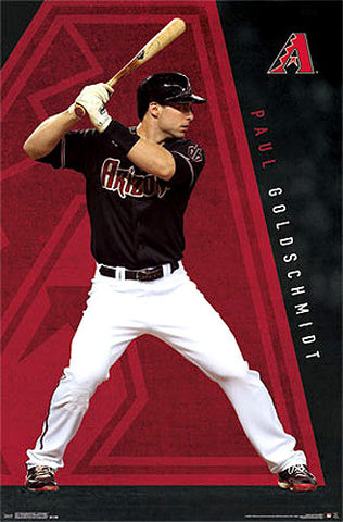 "Paul Goldschmidt ""Blast"" Arizona Diamondbacks MLB Action Wall Poster - Costacos Sports"