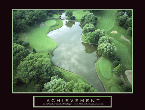 "Golf Course ""Achievement"" Motivational Poster - Front Line"