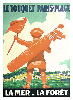 Golf at Le Touquet Paris-Plage France c.1925 Vintage Travel Poster Reprint - Editions Clouets