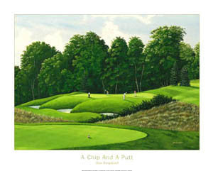 """A Chip and a Putt"" (Lionhead) - Posters International 1999"