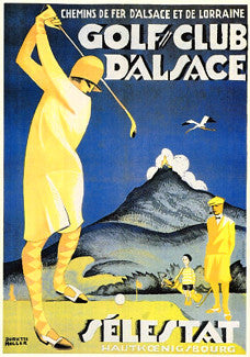 Golf Club d'Alsace Vintage Poster Reprint (c.1929)