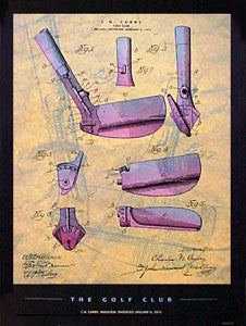 """Golf Club Patent Art"" - Patent Poster Co. 2000"
