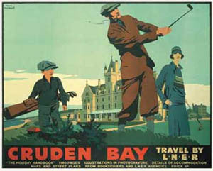 Golf at Cruden Bay Vintage Travel Poster Reprint Edition - PI 1999