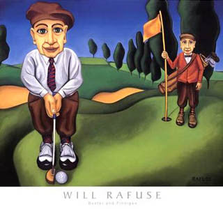 "Golf Humor ""Buster And Finnigan"" Golfing Art Premium Poster Print - Will Rafuse/Canadian Art Prints"