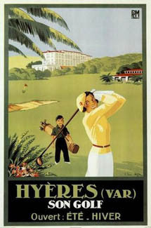 Golf at Hyeres, France c.1933 Vintage Poster Reprint - Image Source