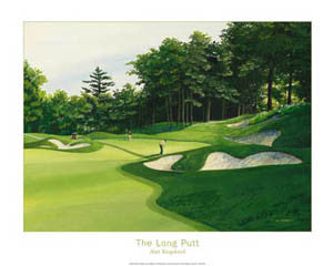 "Golf Course Art ""The Long Putt"" (Summit) Poster - Posters International"