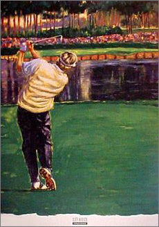 """Challenge"" Golf Art - Scott Medlock 1999"