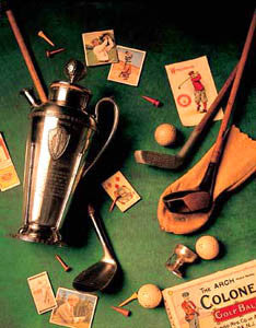 "Vintage Golf Collage ""Golf Memories II"" by Michael Harrison Poster Print"