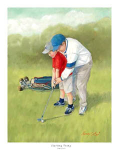 "Golf ""Starting Young"" (Father and Son) Poster - Directional Publishing Inc."