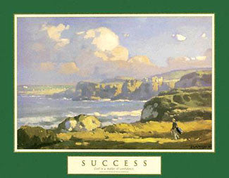 "Golf ""Success"" (Irish Links) Motivational Poster - Front Line"