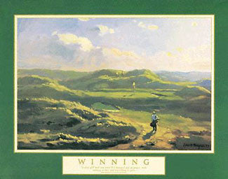 "Golf ""Winning"" (Irish Links) Motivational Poster - Front Line"