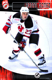 "Scott Gomez ""Action"" New Jersey Devils Poster - Costacos 2000"