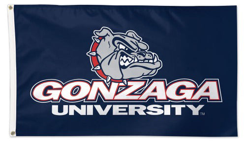 Gonzaga University Bulldogs Official NCAA Team Logo Deluxe-Edition 3'x5' Flag - Wincraft Inc.