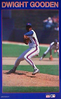 "Dwight Gooden ""Ace"" New York Mets MLB Action Poster - Starline Inc. 1987"