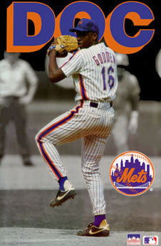 "Dwight Gooden ""Doc Action"" New York Mets Poster - Starline 1991"