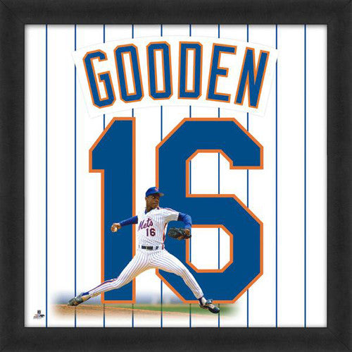 "Dwight Gooden ""Number 16"" New York Mets MLB FRAMED 20x20 UNIFRAME PRINT - Photofile"