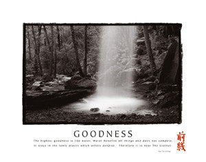 "Waterfall ""Goodness"" Tao Wisdom Motivational - Front Line"