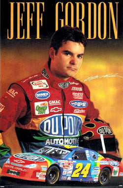 "Jeff Gordon ""Signature"" NASCAR Racing Poster - Costacos 2000"