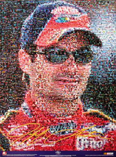 Jeff Gordon NASCAR Superstar Photomosaic Poster - Brian Spurlock Photography 2002