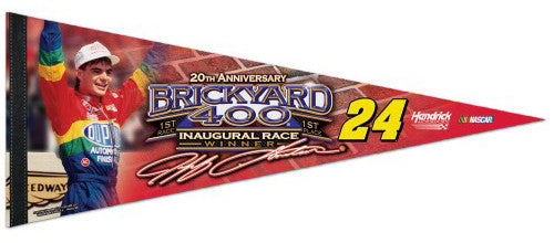 Jeff Gordon Brickyard 400 20th Anniversary Commemorative Premium Felt Pennant