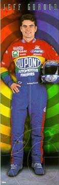 "Jeff Gordon ""Portrait"" HUGE Door-Sized NASCAR Poster - Costacos 1998"