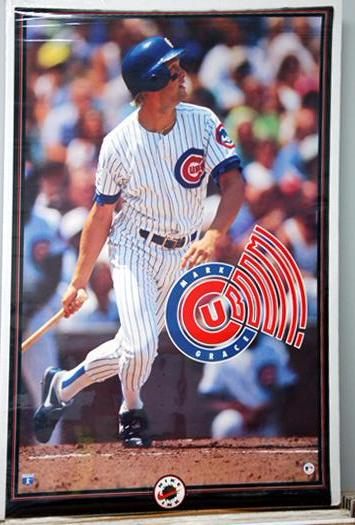 "Mark Grace ""Cub-BOOM"" (1993) Chicago Cubs Vintage Poster - Nike Inc."