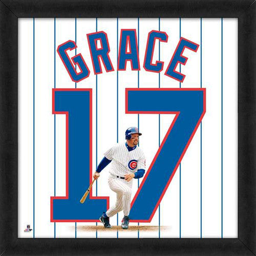"Mark Grace ""Number 17"" Chicago Cubs MLB FRAMED 20x20 UNIFRAME PRINT - Photofile"
