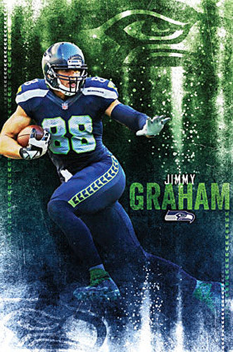 "Jimmy Graham ""Seahawk Superstar"" Seattle Seahawks NFL Action Poster - Trends International"