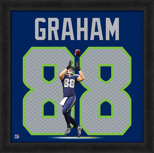 "Jimmy Graham ""Number 88"" Seattle Seahawks FRAMED 20x20 UNIFRAME PRINT - Photofile"