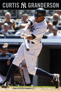 "Curtis Granderson ""Contact"" New York Yankees Poster - Costacos 2010"