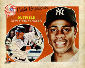 "Curtis Granderson ""Retro SuperCard"" Poster - Photofile 16x20"