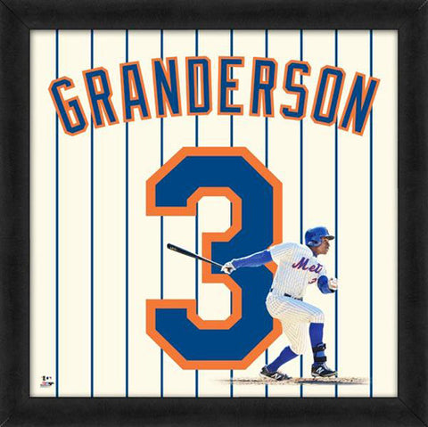 "Curtis Granderson ""Number 3"" New York Mets FRAMED 20x20 UNIFRAME PRINT - Photofile"