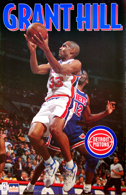 Grant Hill Detroit Pistons Rookie Year Nba Action Poster Starline Inc 1994