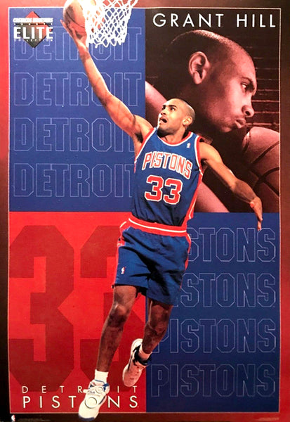 "Grant Hill ""Elite"" Detroit Pistons NBA Basketball Action Poster - Costacos 1995"