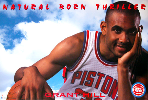 "Grant Hill ""Natural Born Thriller"" Detroit Pistons NBA Basketball Poster - Costacos 1994"