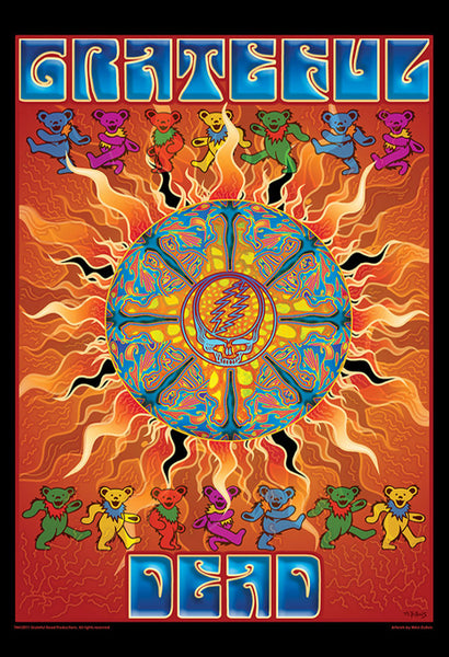 "Grateful Dead ""Sun"" by Mike DuBois (2011) Rock Music 24x36 Art Poster"
