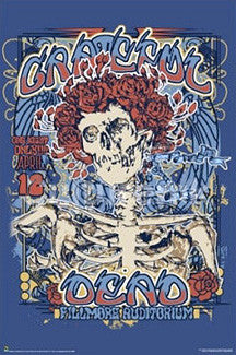 "Grateful Dead ""Fillmore 1970"" Poster Reprint - Culturenik Inc."
