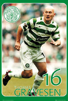 "Thomas Gravesen ""Super Action"" Glasgow Celtic FC Poster - GB 2006"