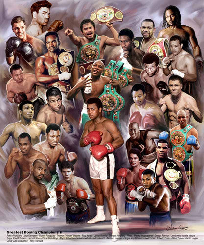 Greatest Boxing Champions (25 Legends) Poster Print - Wishum Gregory