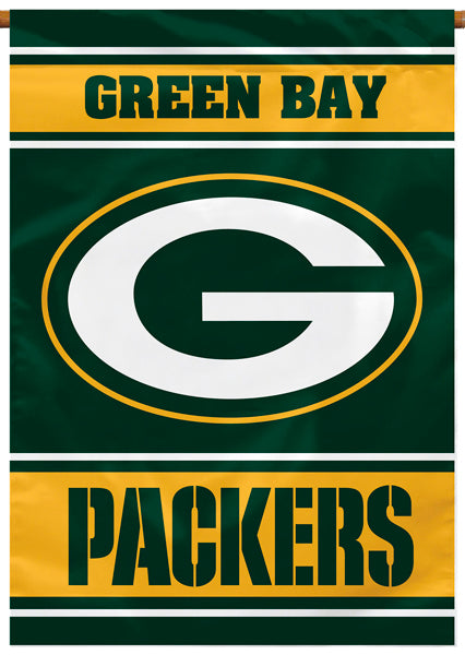 Green Bay Packers Official NFL Football Team Premium Banner Flag - BSI Products