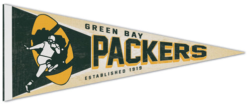 Green Bay Packers NFL Retro 1962-79 Style Premium Felt Collector's Pennant - Wincraft Inc.