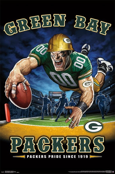"Green Bay Packers ""Packers Pride Since 1919"" NFL Theme Art Poster - Liquid Blue/Trends Int'l."