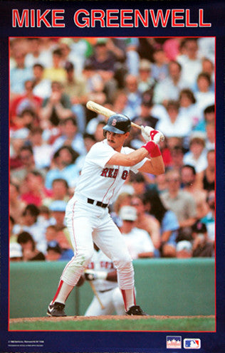 "Mike Greenwell ""Fenway Action"" (1988) Boston Red Sox Poster - Starline Inc."